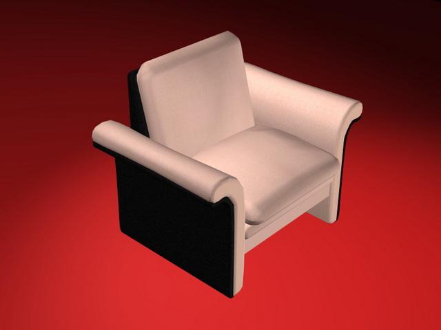 Pink Club Chair 3d Model 3d Studio 3ds Max Files Free
