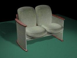 Antique settee sofa 3d model