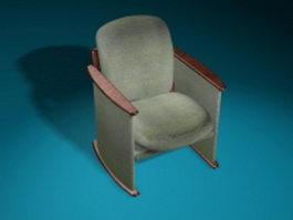 Antique armchair 3d model