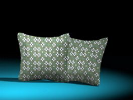 Decorative pillows for couch 3d model