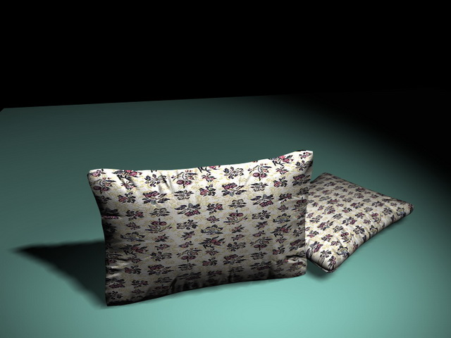 Country floral throw pillows 3d model. Available 3D object format  .3DS (3D  Studio) .MAX (3ds Max) scanline render. Texture format  jpeg 270001ff0