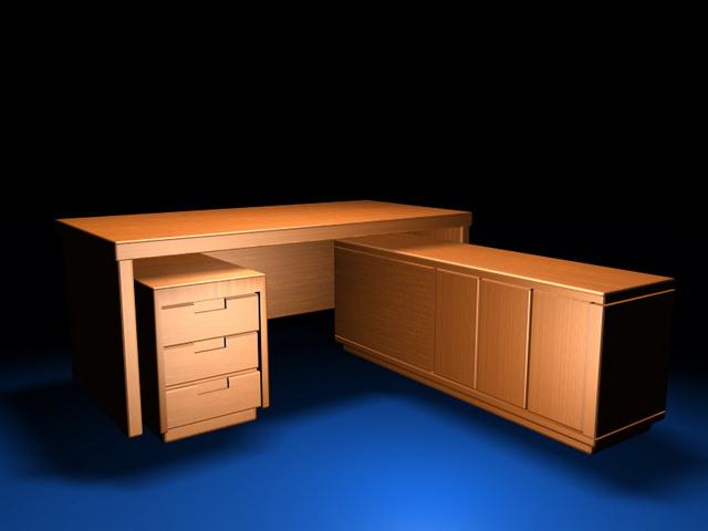 Executive Desk Furniture Sets 3d Model 3d Studio 3ds Max