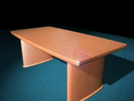 Wood conference table 3d model