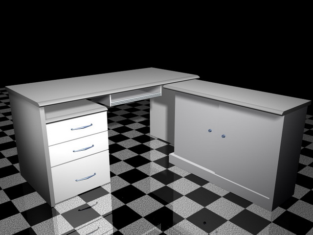 white office computer desk 3d model 3d studio 3ds max files free