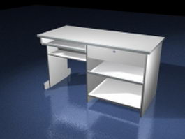 Small office computer desk 3d model