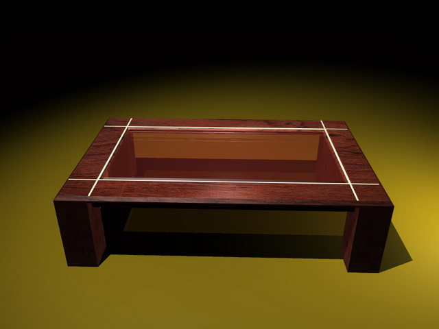 Glass Display Coffee Table 3d Model 3d Studio 3ds Max