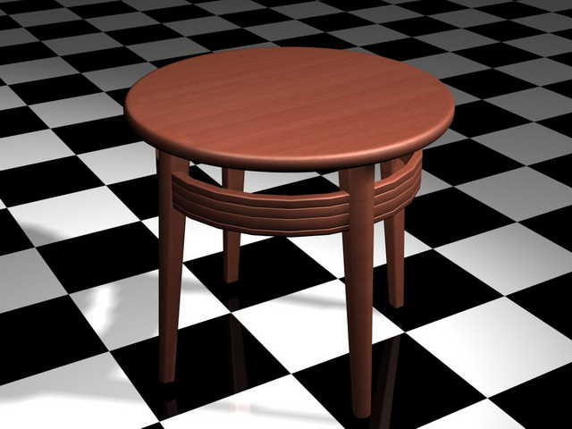 Small Round Coffee Table 3d Model 3d Studio 3ds Max Files