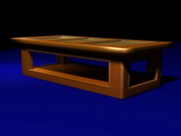 Display top coffee table 3d model