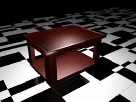 Small side accent table 3d model