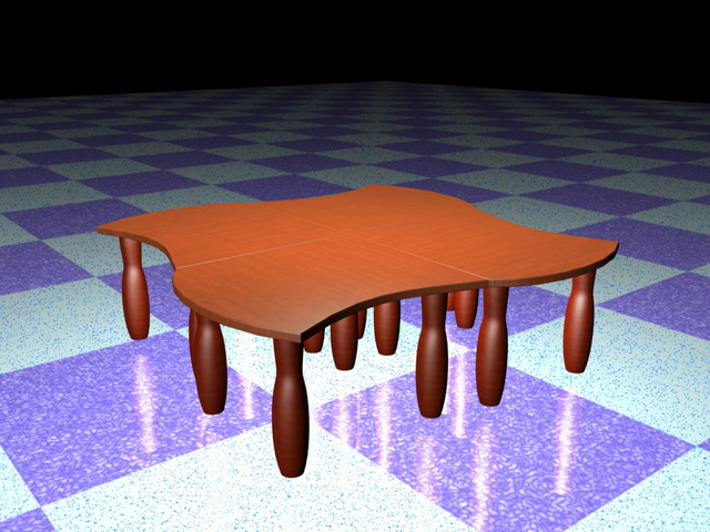 Modular Coffee Table 3d Model 3d Studio 3ds Max Files Free