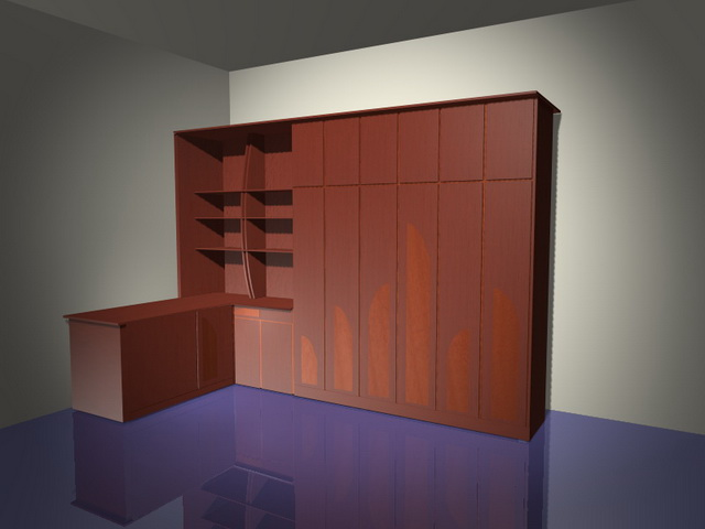 Office Wall Storage Systems 3d Model 3d Studio 3ds Max