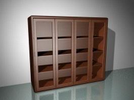 Cubby bookshelf 3d model