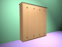Large armoire wardrobe 3d model