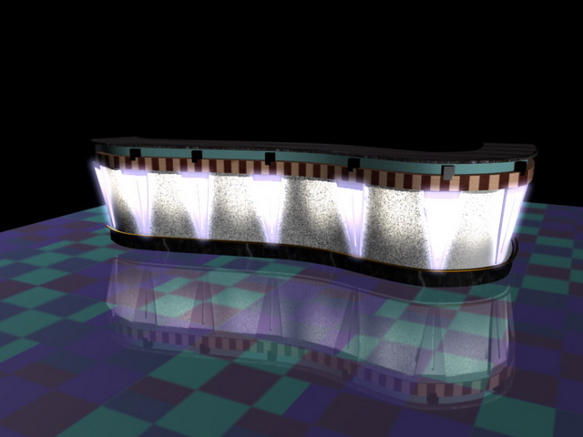 Pub bar counter 3d model 3d studio 3ds max files free for Food bar 3d model