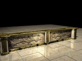 Antique bar counter 3d model