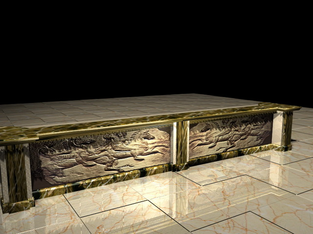 Antique Bar Counter 3d Model 3d Studio 3ds Max Files Free