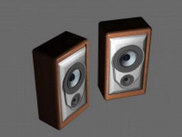 Small bookshelf speakers 3d model