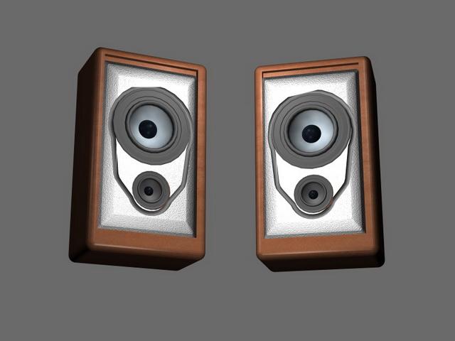 Small Bookshelf Speakers 3d Model 3d Studio 3ds Max Files Free