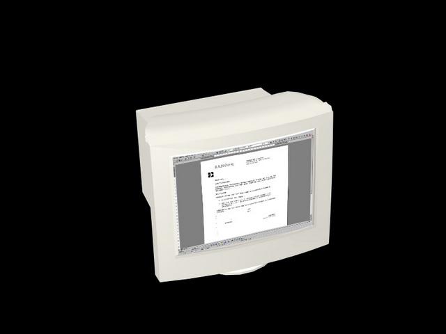 Old computer monitor 3d model - CadNav