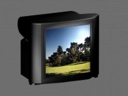 Black Television Sets 3d model