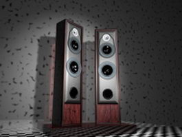 Sound system speakers 3d model