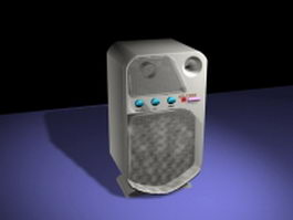 White computer speaker 3d model