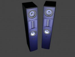 High-End floor standing speakers 3d model