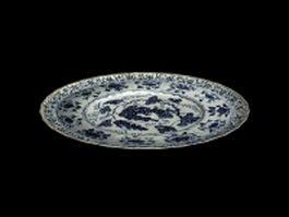 Ceramic wall plate 3d model