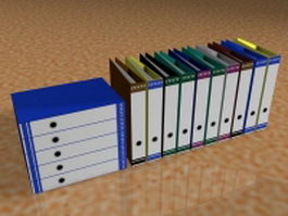 Office files and folders 3d model
