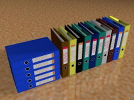 Business office folders 3d model