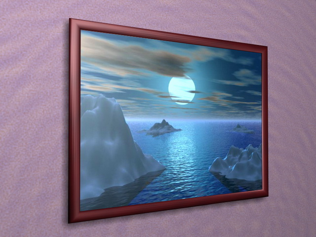 Decorative Picture Frame 3d Model 3d Studio 3ds Max Files