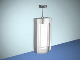 Floor mount urinal 3d model