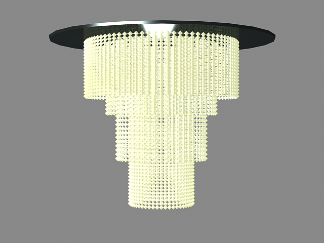 Waterfall Crystal Chandelier 3d Model 3ds Max Files Free