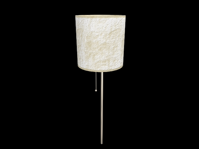 White Drum Lamp Shade 3d Model 3d Studio 3ds Max Dxf Files