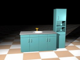 Kitchen sink units 3d model