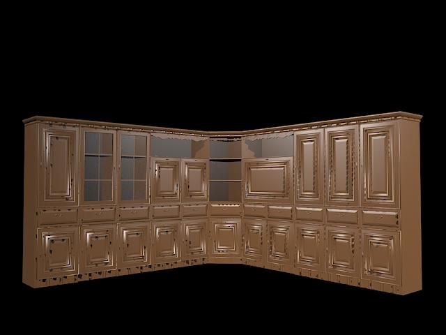 L Shaped Wall Unit 3d Model 3ds Max Files Free Download