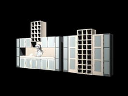 Wall display units 3d model