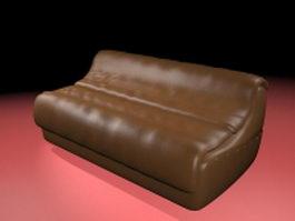 Leather reclining sofa 3d model