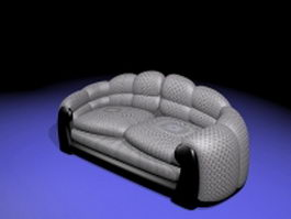 Vintage sofa loveseat 3d model