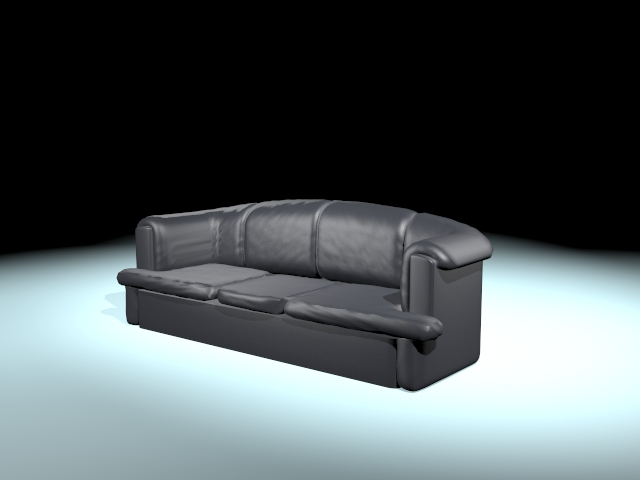 Old Style Black Sofa 3d Model 3ds Max Files Free Download Modeling