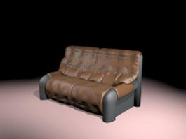 Vintage leather sofa 3d model