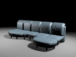 Sectional sofa with chaise 3d model