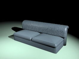 Armless leather couch 3d model