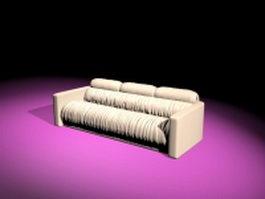 Reclining fabric sofa 3d model