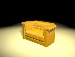 Yellow loveseat 3d model