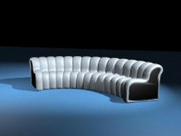 Modern curved sofas 3d model