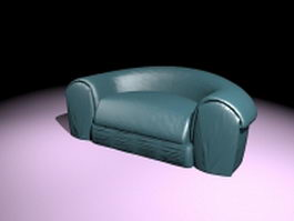 Low profile sofa chair 3d model