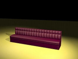 Extra long couch 3d model