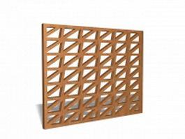 Wood lattice panel 3d model