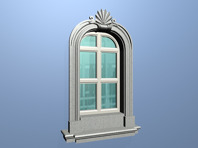 European Window With Trim 3d Model 3ds Max Files Free